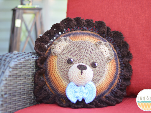 Cuddles The Classic Bear Pillow PDF Crochet Pattern