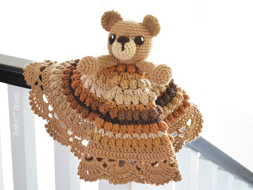 Cuddles The Classic Bear Security Blanket PDF Crochet Pattern With Instant Download by IraRott