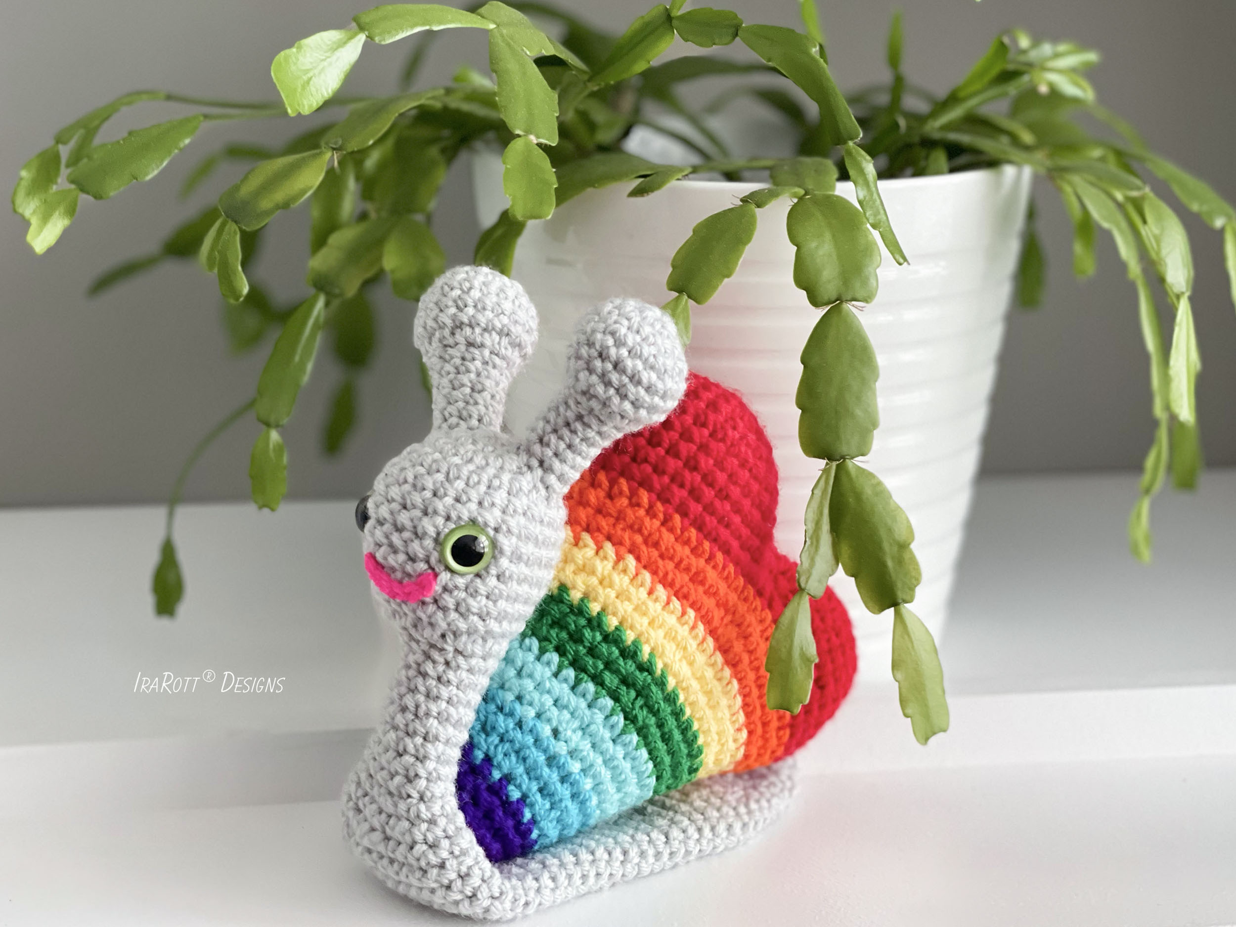 Amigurumi Heart : Cupid The Love Snail Amigurumi Toy PDF Crochet Pattern ...
