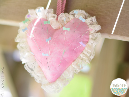 Cupid's Heart Pincushion Quilting Pattern By IraRott For Beginners