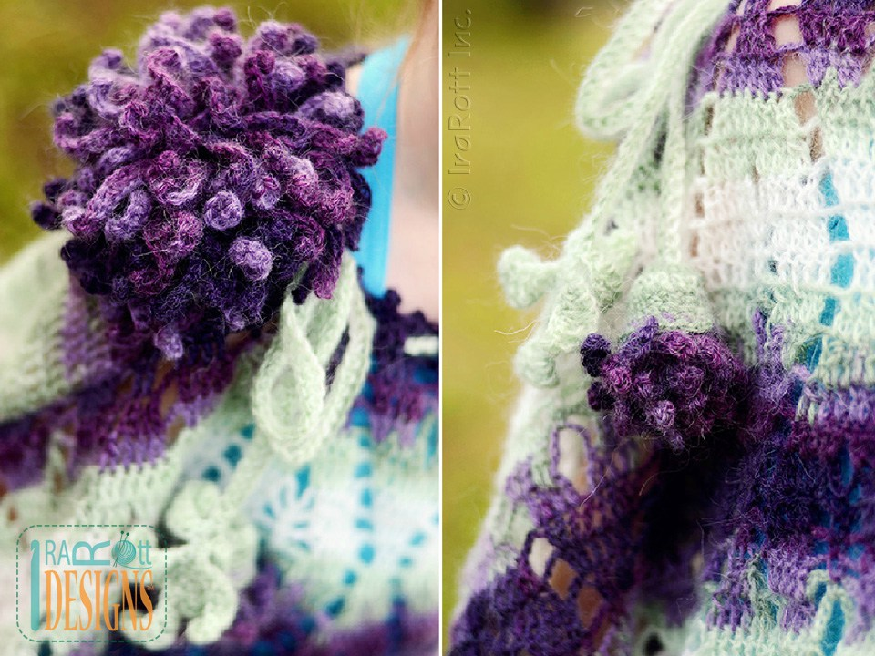Crochet Flower Pattern Dahlia : Dahlia Poncho and Headband PDF Crochet Pattern - IraRott Inc.