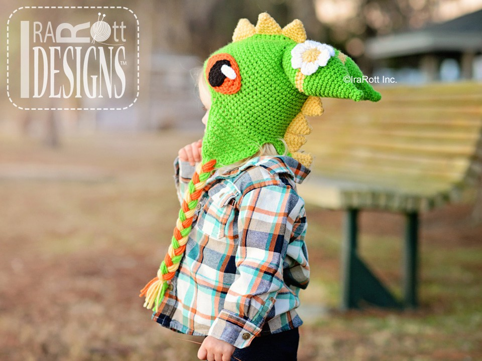 Dragonfly Monster Dragon Hat Pdf Crochet Pattern Irarott Inc