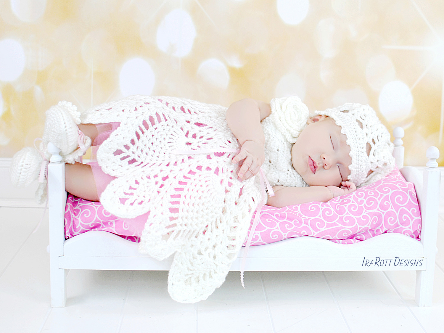 Ivory Dream Christening Gown Pdf Crochet Pattern Irarott Inc