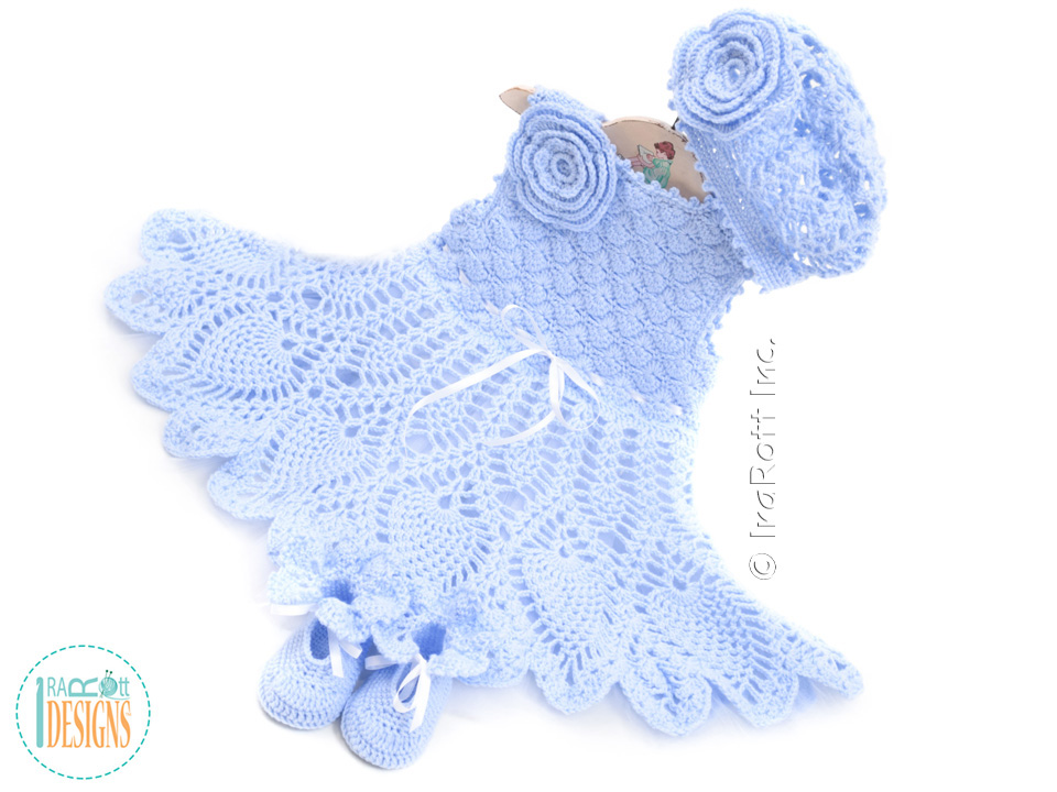 Ivory Dream Christening Gown PDF Crochet Pattern IraRott Inc Awesome Crochet Christening Gown Pattern