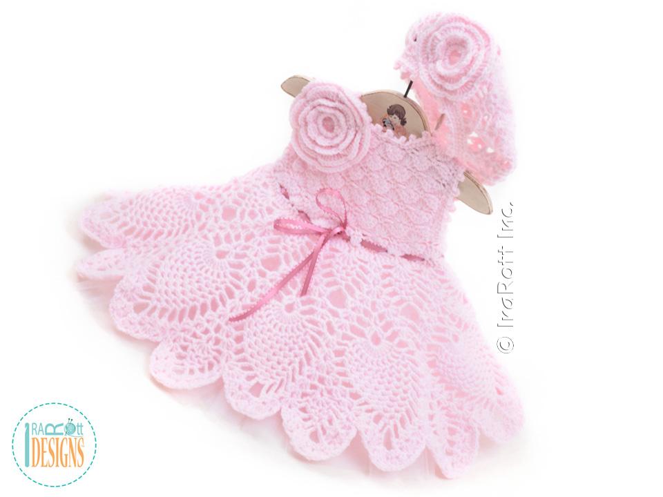 Ivory Dream Christening Gown PDF Crochet Pattern - IraRott ...