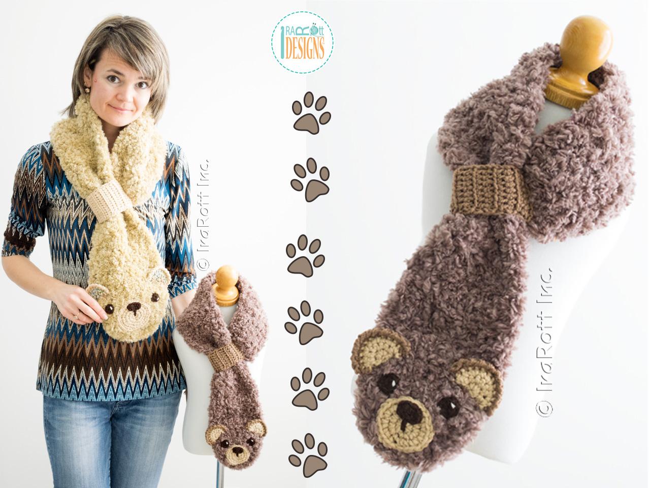 Free Crochet Pattern Bear Scarf : Dream Cloud Teddy Bear Scarf Crochet Pattern PDF - IraRott ...