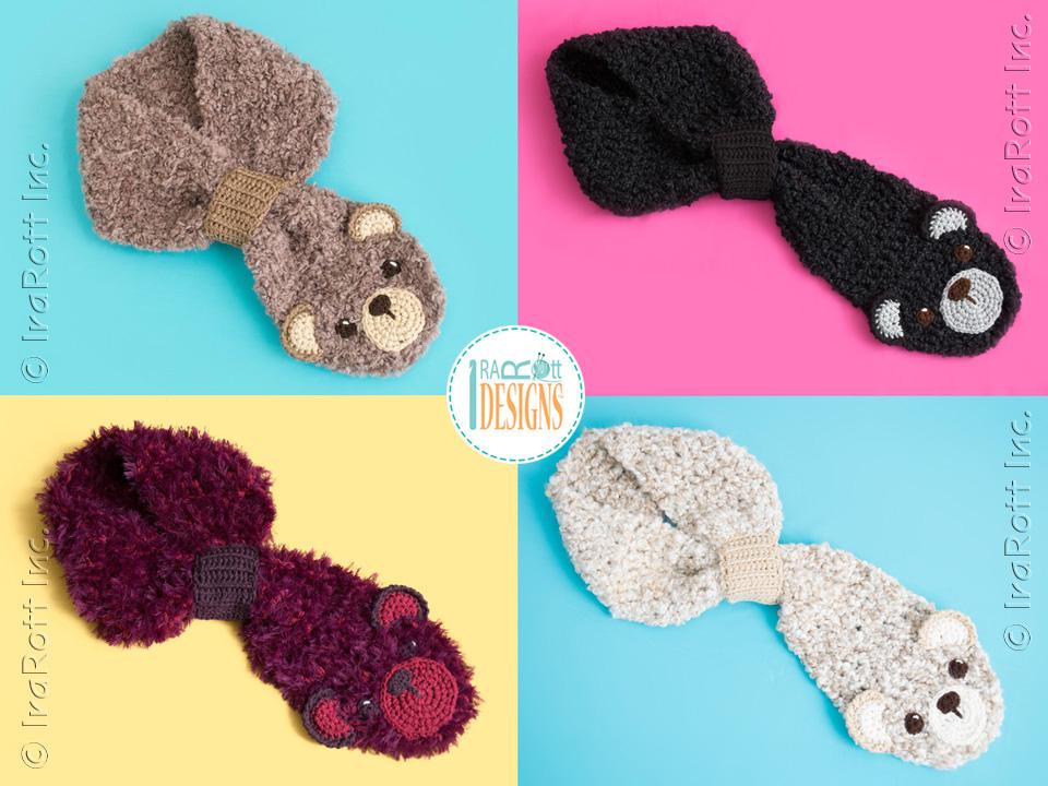 Dream Cloud Teddy Bear Scarf Crochet Pattern Pdf Irarott Inc