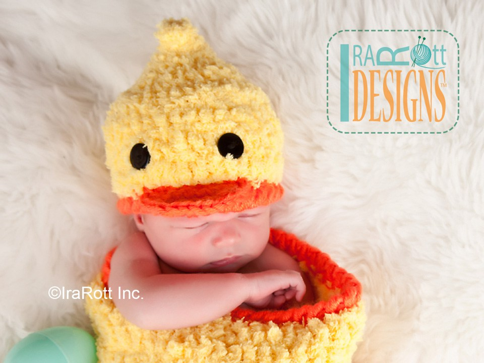 Quacky Easter Ducky Baby Hat and Cocoon Set PDF Crochet ...