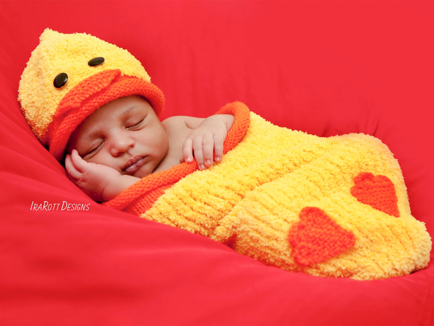 Quacky Easter Ducky Baby Hat And Cocoon Set Pdf Knit Pattern
