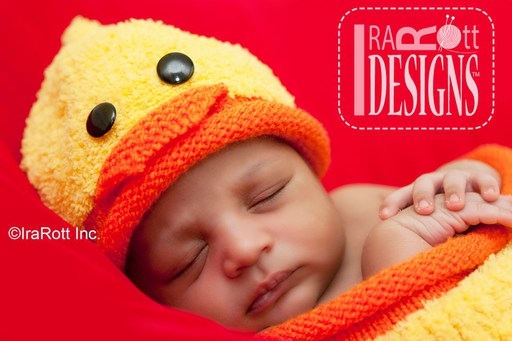 Baby Ducky Animal Hat and Cocoon Set Knit Pattern by IraRott