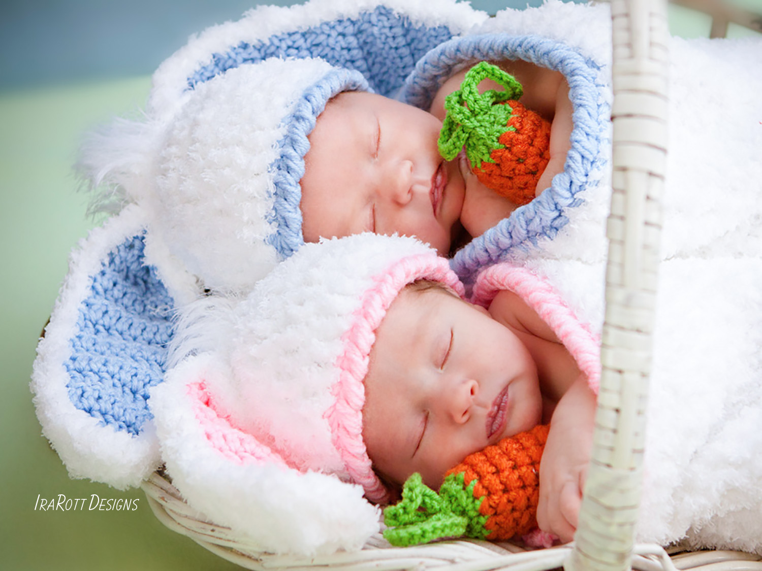 Bunny Rabbit Baby Hat And Cocoon Set With Carrot Pdf Crochet Pattern
