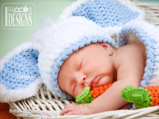 Bunny Rabbit Animal Hat and Cocoon Photo Prop Crochet Pattern for Newborns