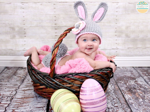Easter Bunny Rabbit Animal Hat Diaper Cover for Babies by IraRott