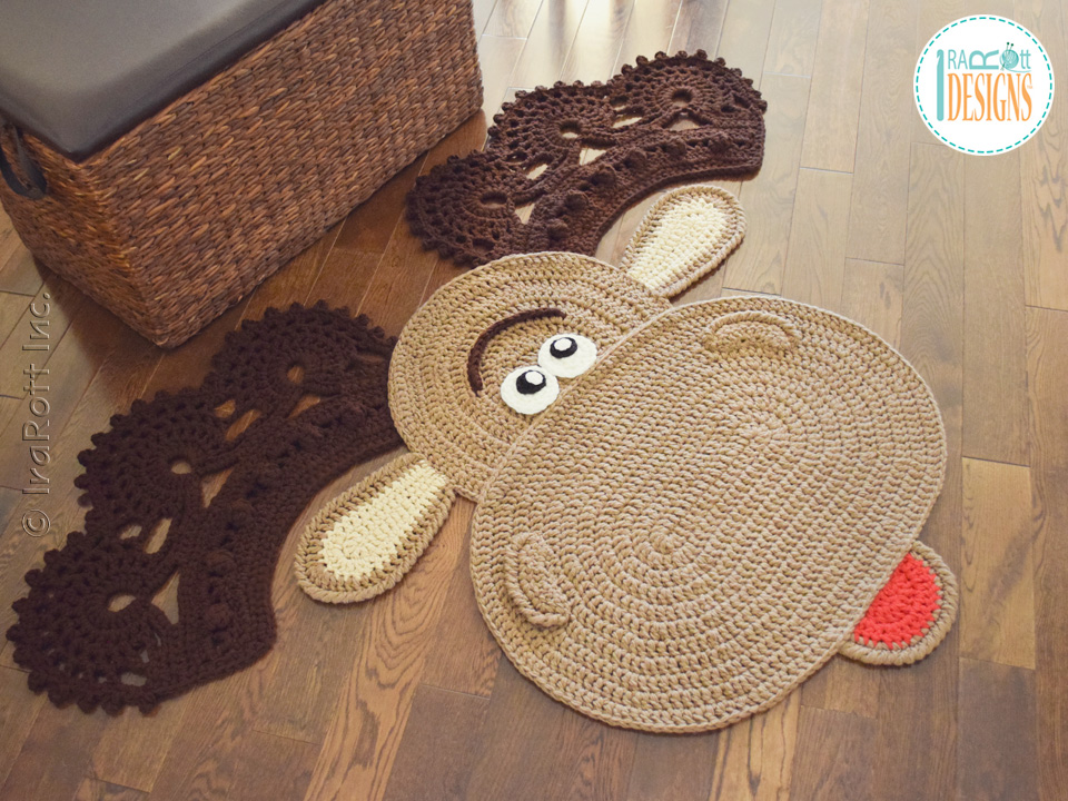 Eh Moose Rug Pdf Crochet Pattern Irarott Inc