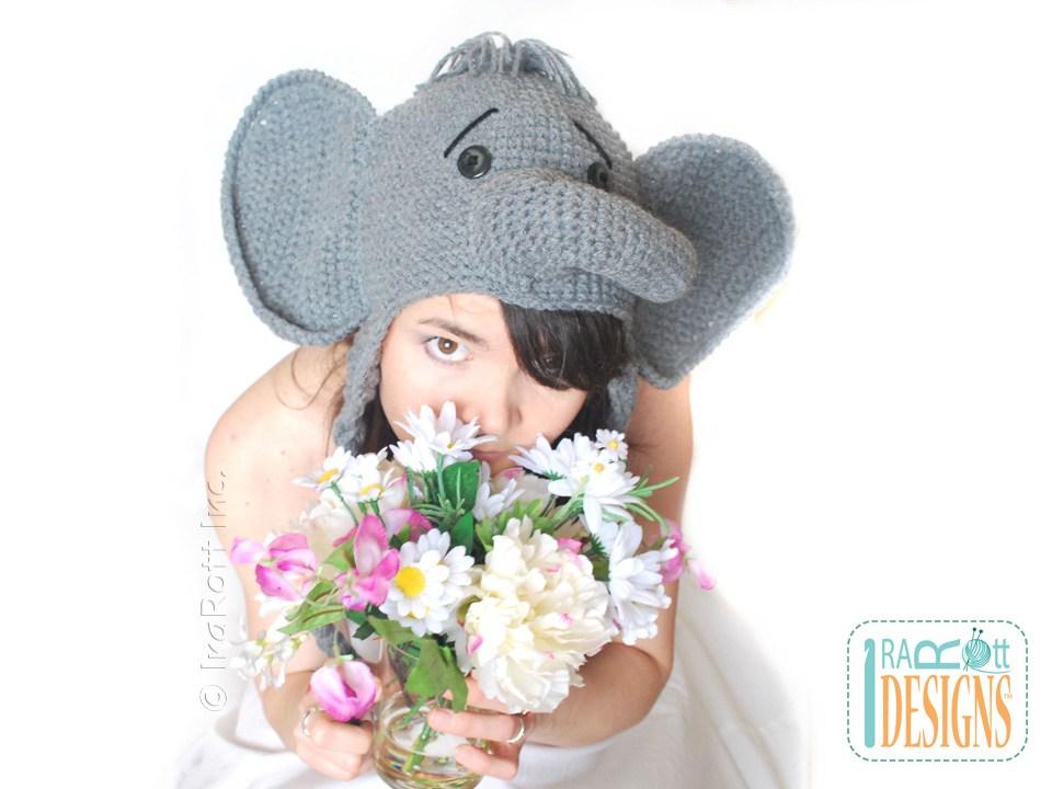 Baby Elephant hat newborn elephant beanie crochet elephant | Etsy | 720x960