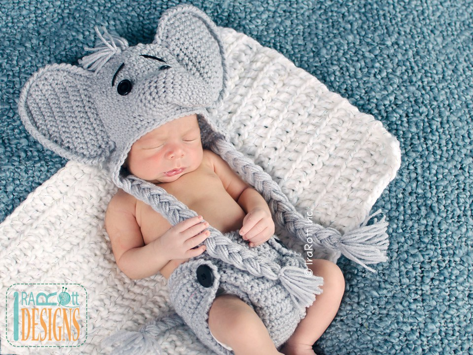 Baby elephant outfit crochet pattern in my etsy shop! Newborn - 9 ... | 720x960