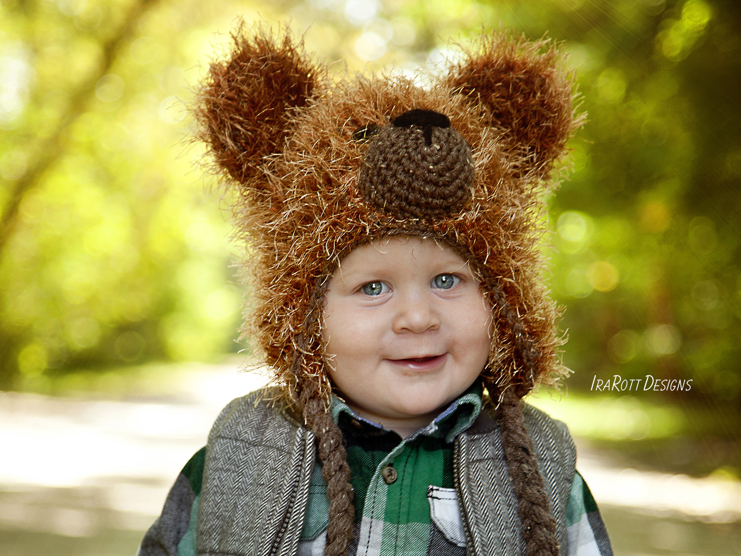 Fluffy The Classic Bear Hat Pdf Crochet Pattern Irarott Inc