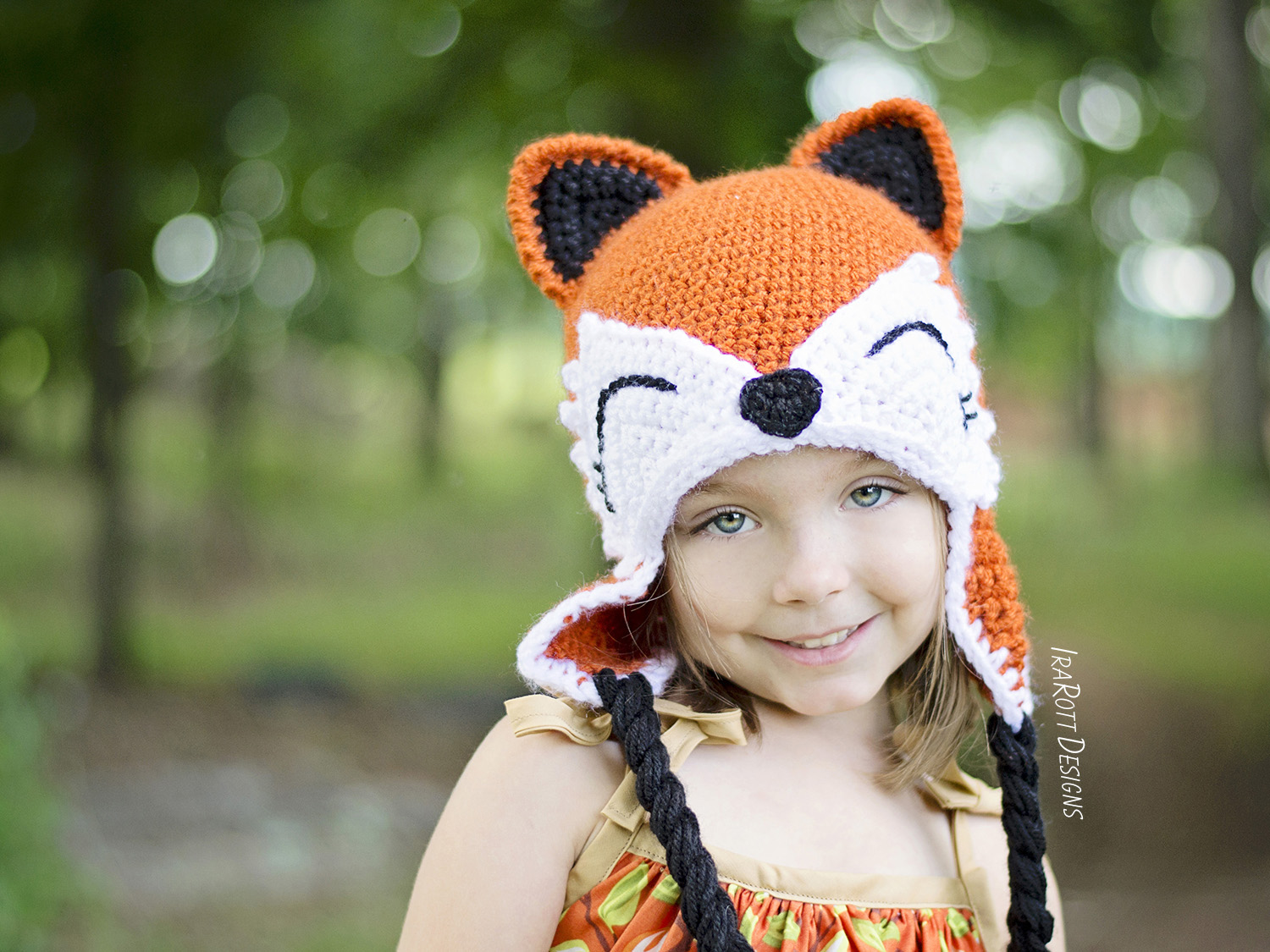 Roxy The Forest Fox Hat PDF Crochet Pattern - IraRott Inc.