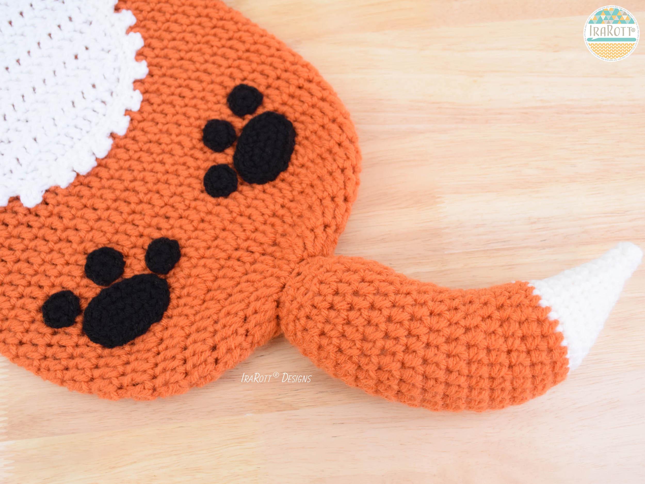 Roxy The Baby Red Fox Hat And Sleeping Bag Set Pdf Crochet Pattern