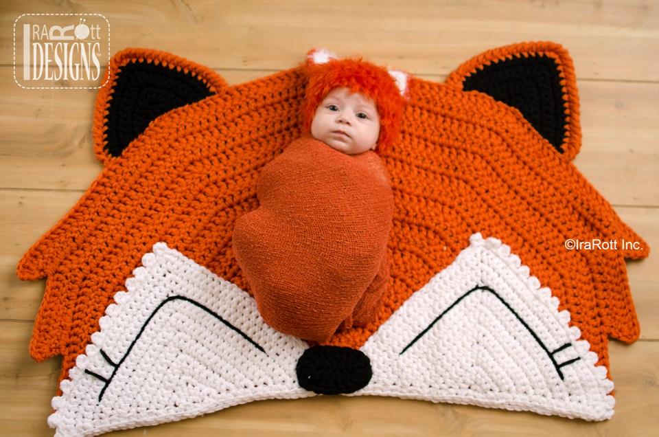 Foxy Fox Rug Nursery Mat Pdf Crochet Pattern Irarott Inc