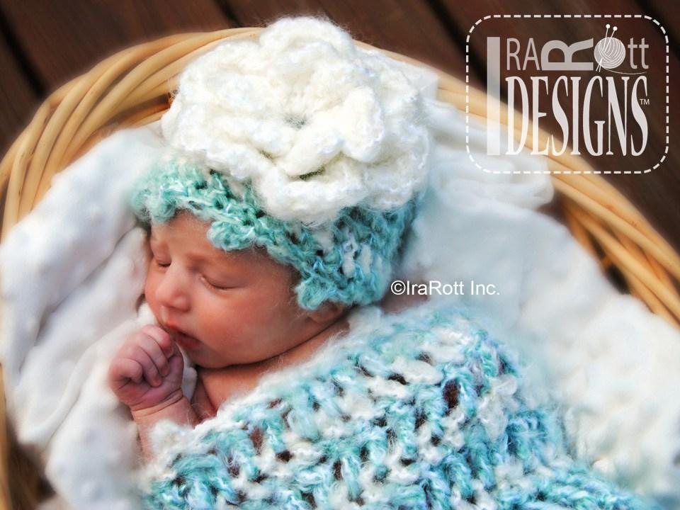 Fleecy Cloud Cocoon And Beanie Baby Set Irarott Inc