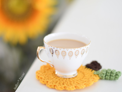 Tea Time Pumpkin Coasters PDF Crochet Pattern With Instant Download by IraRott