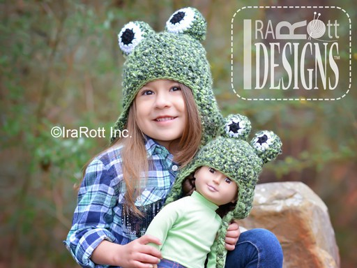 Pistachio the Frog Hat PDF Crochet Pattern With Instant Download by IraRott