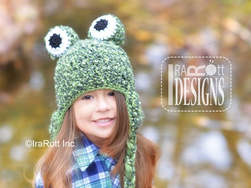Frog Toad Animal Hat Crochet Pattern for Babies Kids and Adults