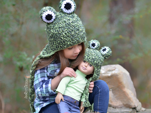 Frog Toad Animal Hat Crochet Pattern for Boys and Girls of all ages