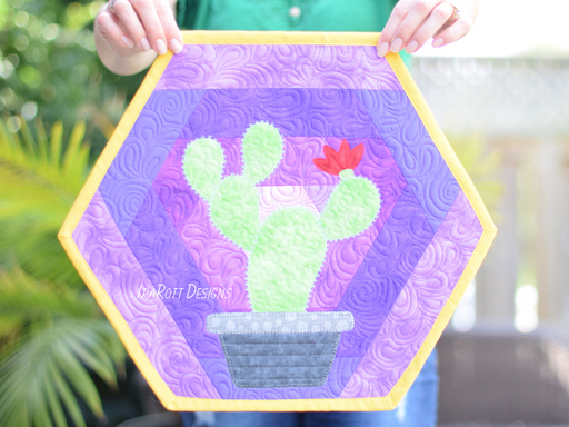Hexi Cactus Placemats PDF Quilting Pattern By IraRott