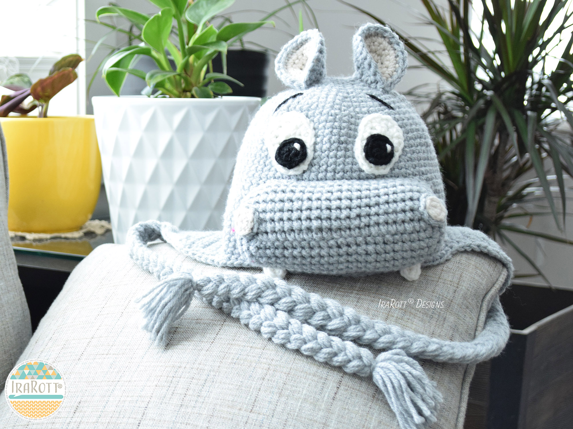 Happy Hippo The Hippopotamus Hat Pdf Crochet Pattern Irarott Inc