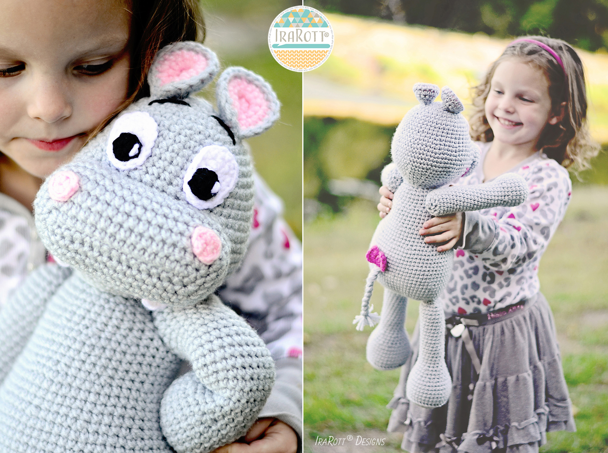 Happy Hippo the Hippopotamus Amigurumi Toy Stuffed Animal ...