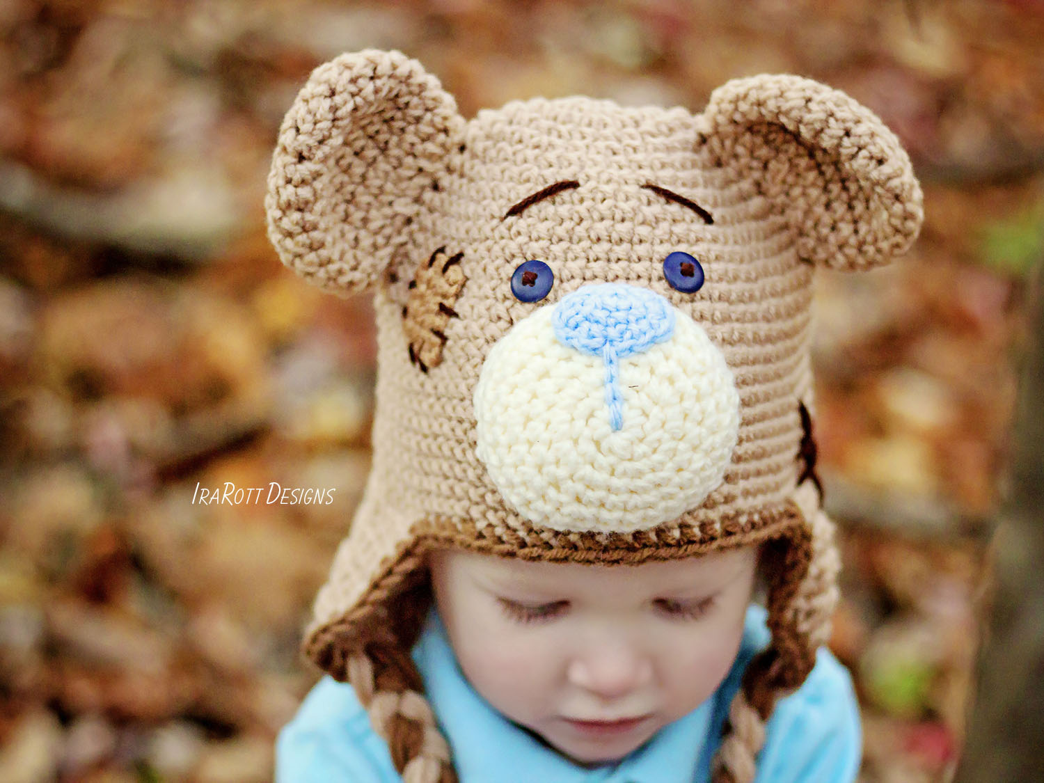 Classic Teddy Bear Hat Pdf Crochet Pattern Irarott Inc