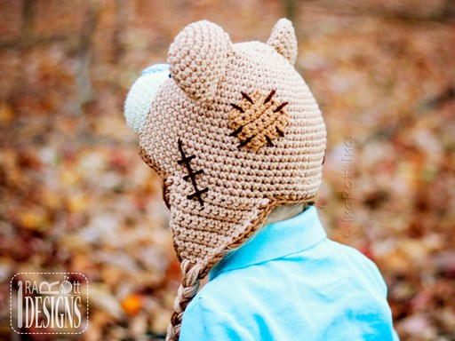 Teddy Bear Animal Hat Crochet Pattern for Boys and Girls of all ages by IraRott