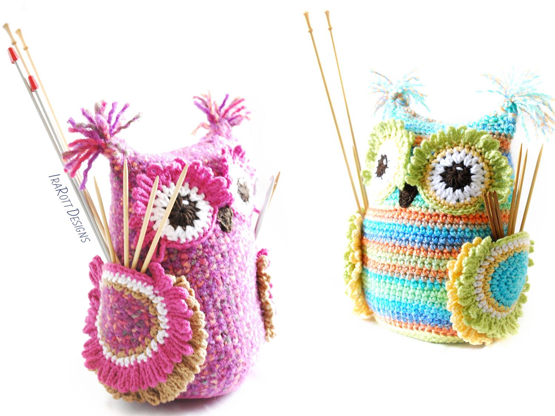 Hooty The Owl Buddy Hooks And Needles Organizer Pdf Crochet Pattern