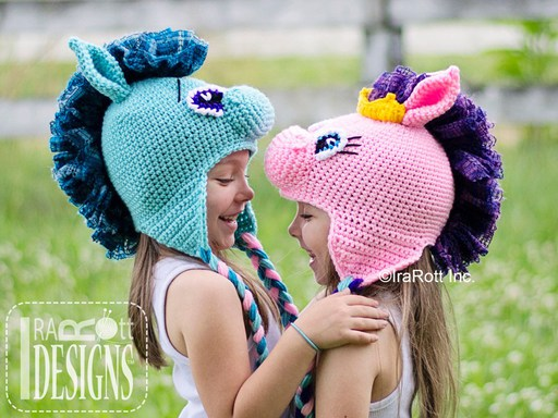 Horse Pony or Unicorn Animal Hat Crochet Pattern by IraRott