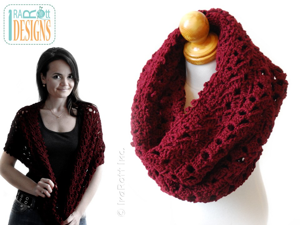Infinity Scarf Iryna Pdf Crochet Pattern Irarott Inc