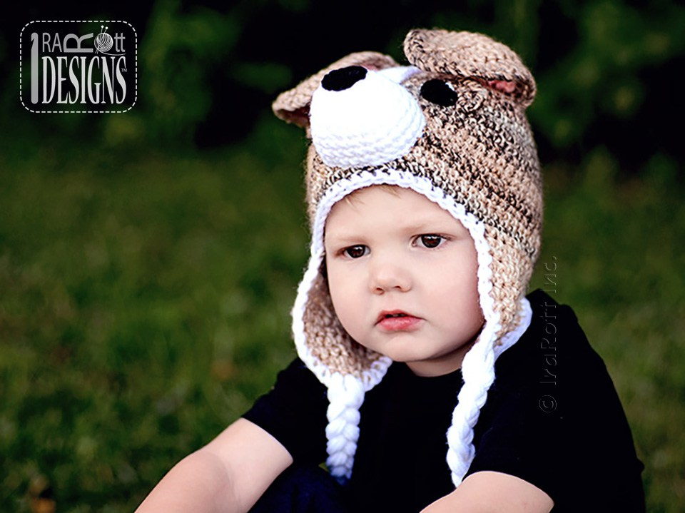 Buddy the Jack Russell Terrier Puppy Dog Hat PDF Crochet Pattern ...