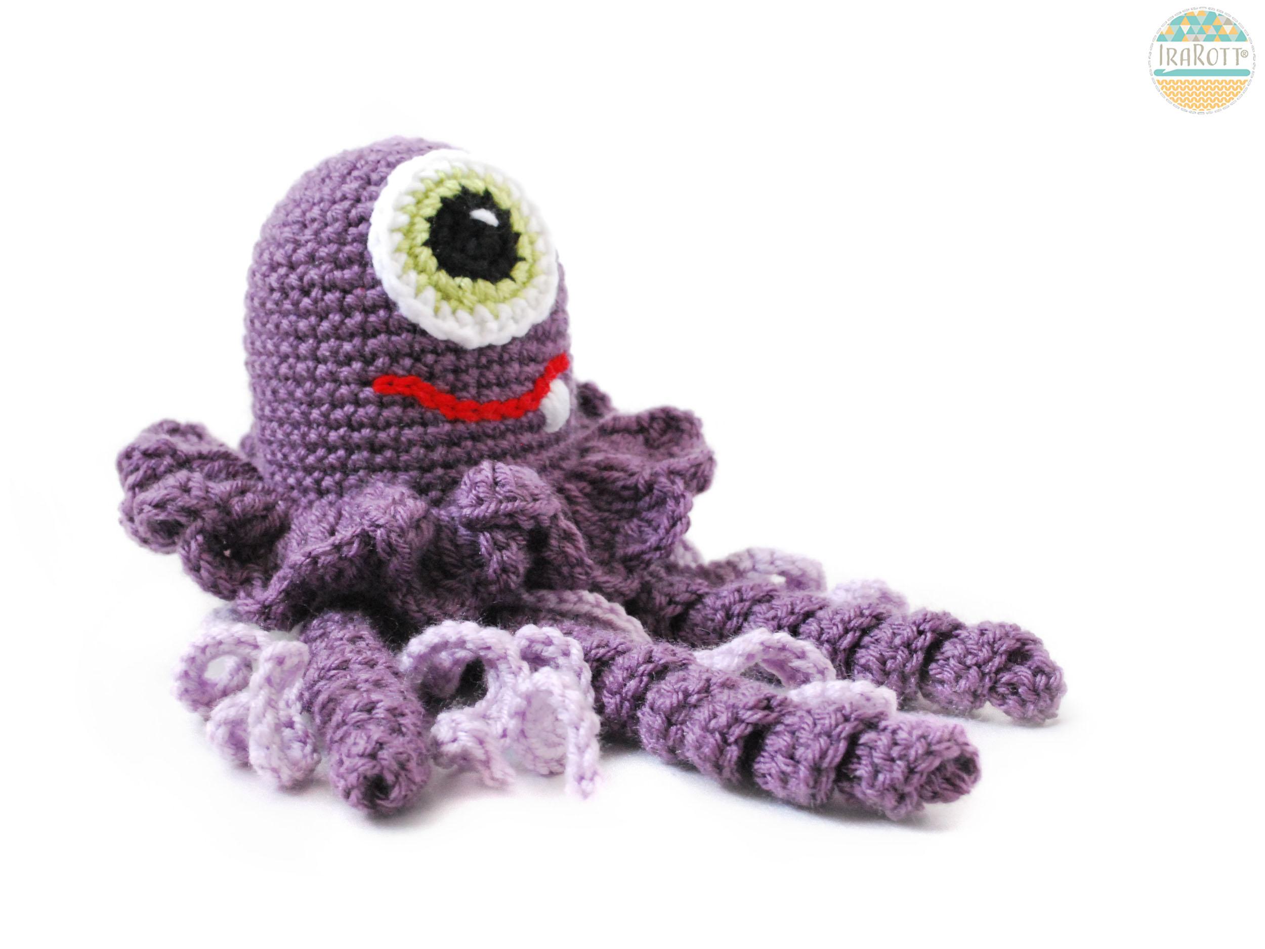 Peanut Butter The Jellyfish Monster Amigurumi Toy Pdf Crochet