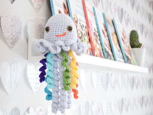 Crochet Pattern PDF for making a sweet Jellyfish Amigurumi Toy Monster