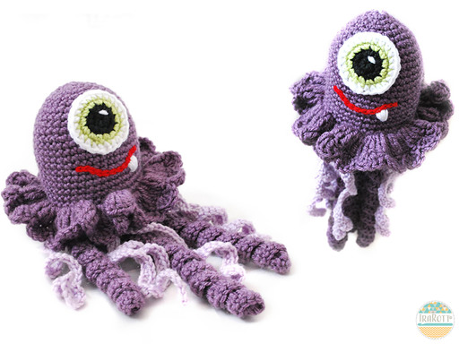 PDF Crochet Pattern for making a sweet Jellyfish  Amigurumi Toy Monster