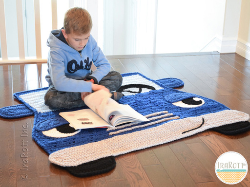 Jimmy The Hybrid Car Rug or Throw Blanket PDF Crochet Pattern With Instant Download by IraRott