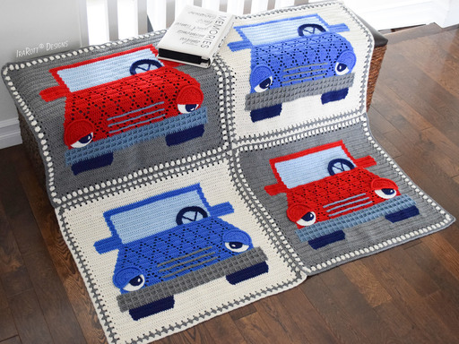 Jimmy The Hybrid Car Blanket PDF Crochet Pattern by IraRott