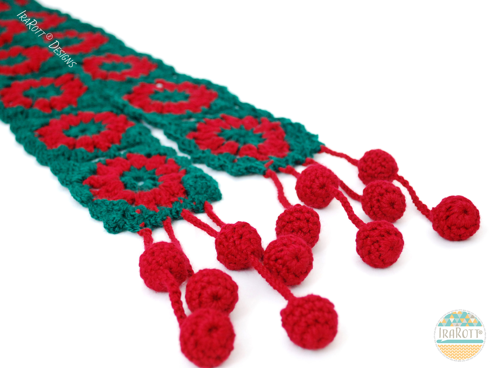 Free Crochet Patterns For Christmas Scarves : Jingle Bells Christmas Festive Holiday Scarf Free PDF ...