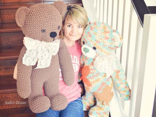 John the Canadian Bear Big Amigurumi PDF Crochet Pattern With Instant Download by IraRott