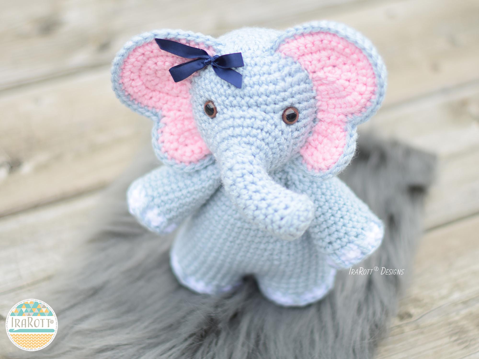 Amigurumi elephant pattern - Lucy the Elephant | lilleliis | 1125x1500