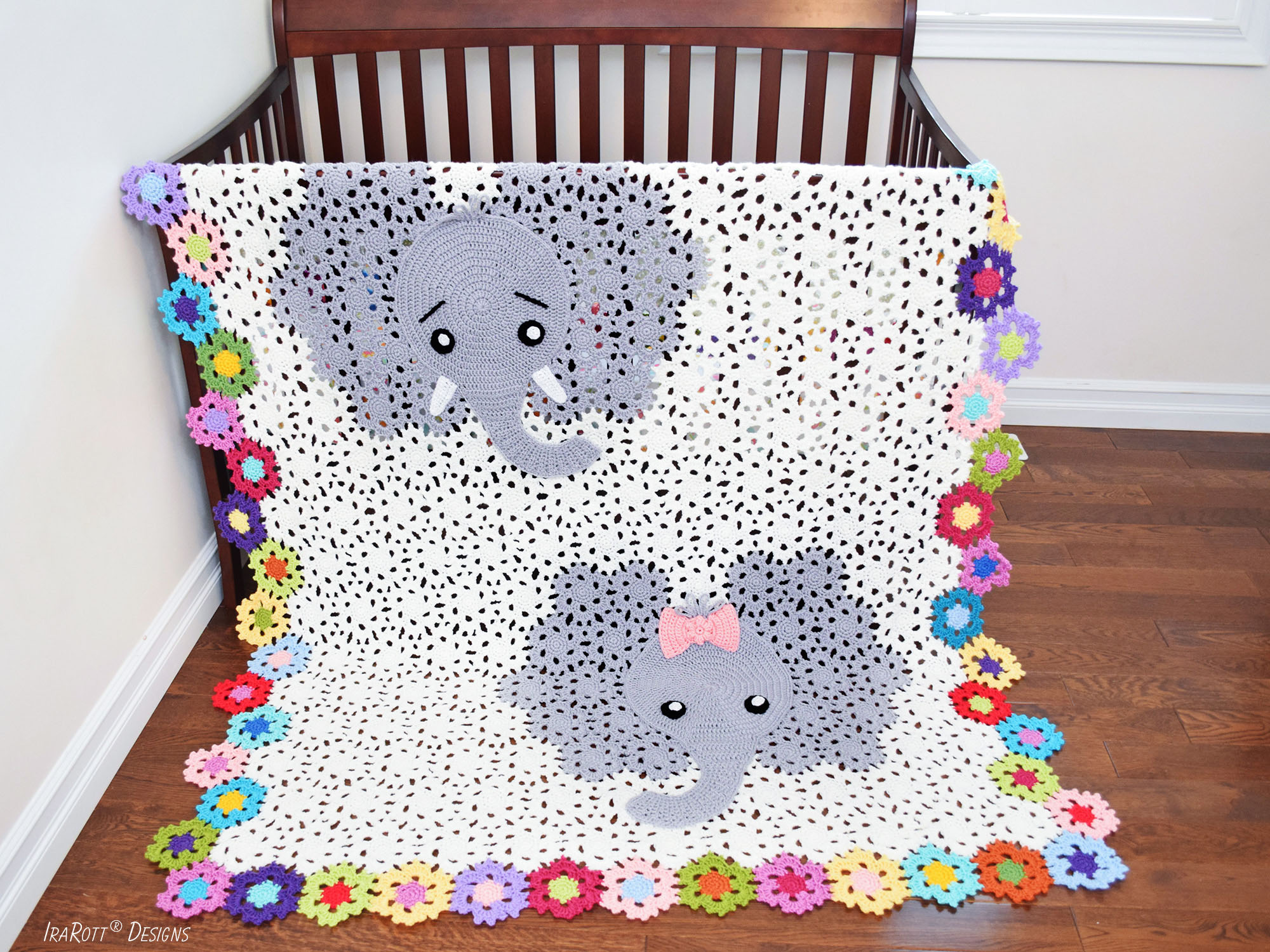 Josefina And Jeffery Elephant Blanket Pdf Crochet Pattern Irarott Inc