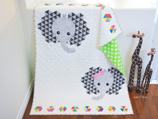 Josefina and Jeffery Elephant Quilt PDF Quilting Pattern By IraRott