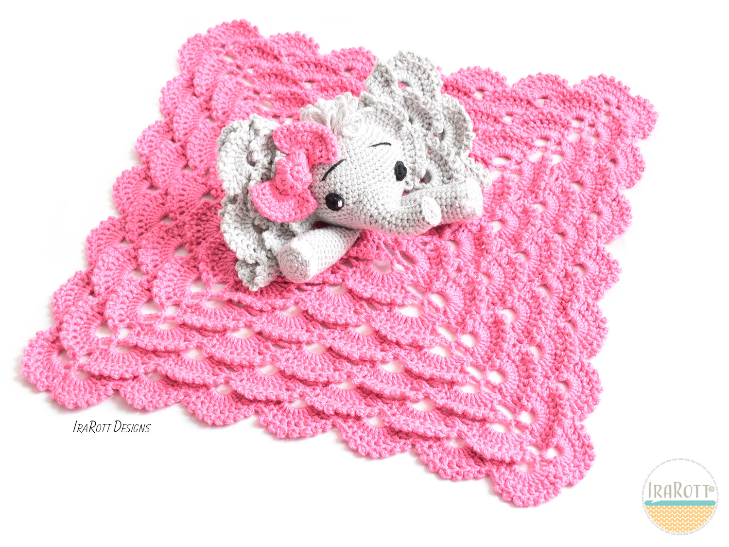 Amigurumi Elephant Pattern : Josefina and jeffery elephant security blanket pdf crochet pattern