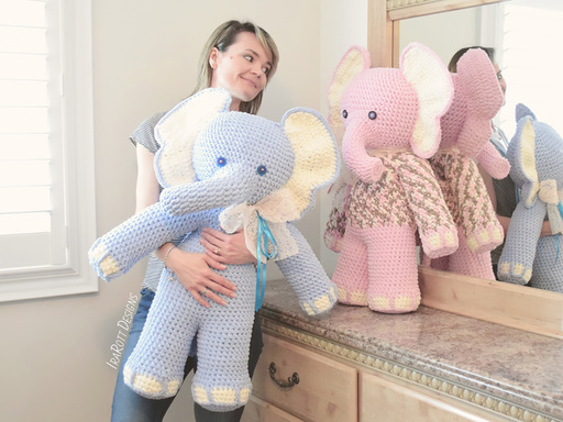 Josefina and Jeffery Big Amigurumi Elephants PDF Crochet Pattern With Instant Download by IraRott